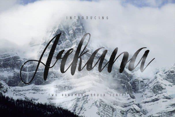 Arkana Script Typeface шрифт скачать бесплатно