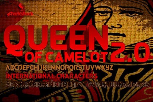Queen of Camelot 2.0 шрифт скачать бесплатно