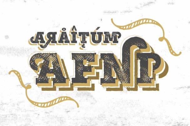 Mutiara Vintage шрифт скачать бесплатно