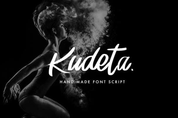 Kudeta - Handmade Font Script шрифт скачать бесплатно