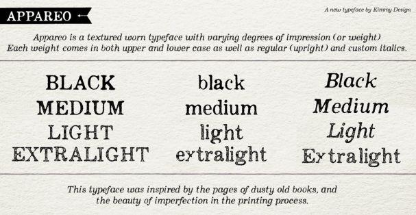 Appareo Light шрифт скачать бесплатно