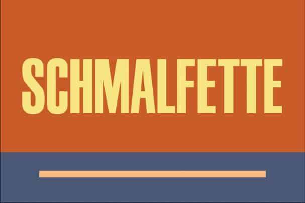 Schmalfette шрифт скачать бесплатно