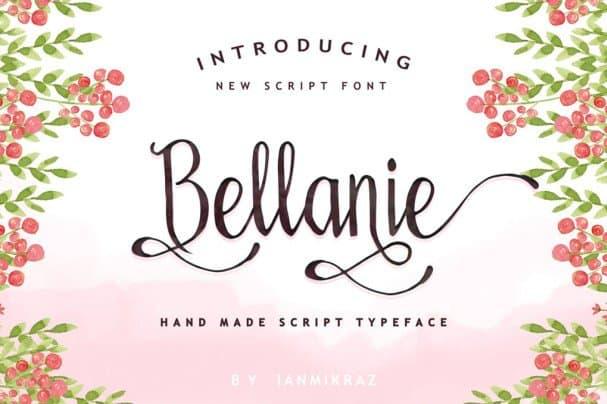 Bellanie Script шрифт скачать бесплатно
