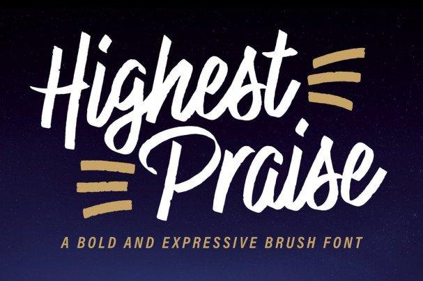 Highest Praise Font шрифт скачать бесплатно
