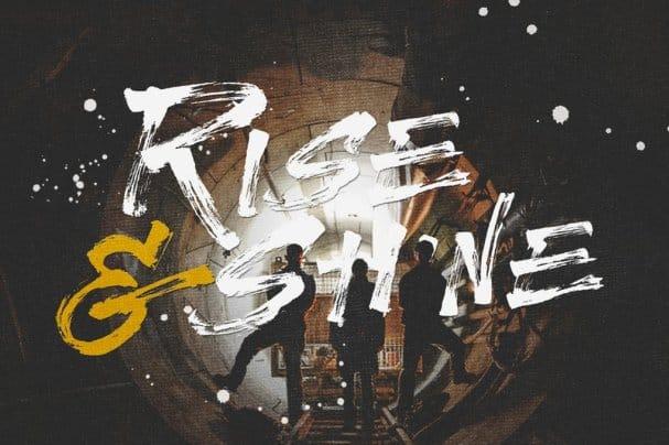 Rise & shine шрифт скачать бесплатно