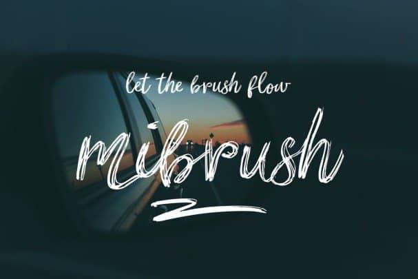 Mibrush шрифт скачать бесплатно