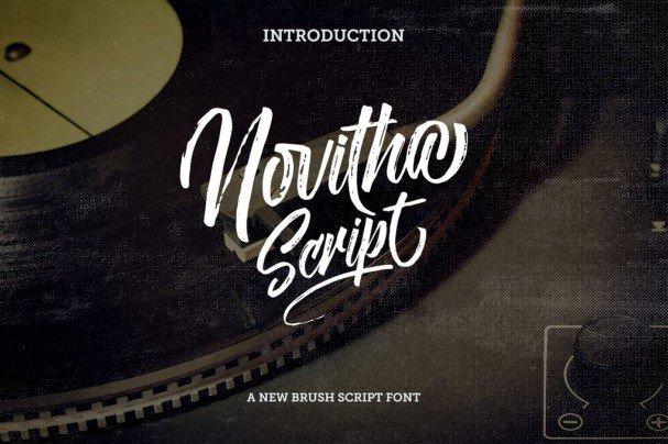 Novitha Script шрифт скачать бесплатно