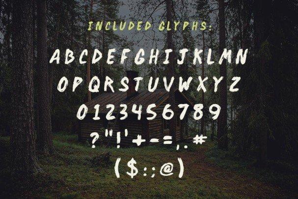 Backwoods Cabin   шрифт скачать бесплатно