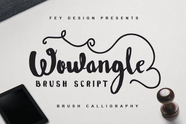 Wowangle - Brush   шрифт скачать бесплатно