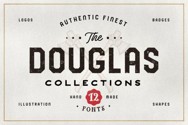 The Douglas Collections шрифт скачать бесплатно