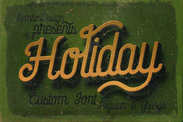 Holiday - Creative Script Font шрифт скачать бесплатно