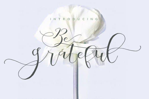 Be Grateful Script шрифт скачать бесплатно
