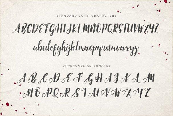 Emellie Script Font шрифт скачать бесплатно