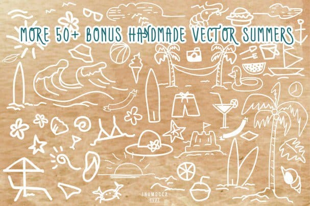 Summers Typeface + BONUS vector шрифт скачать бесплатно