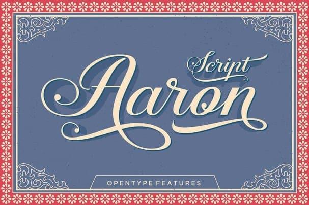 Aaron Script шрифт скачать бесплатно
