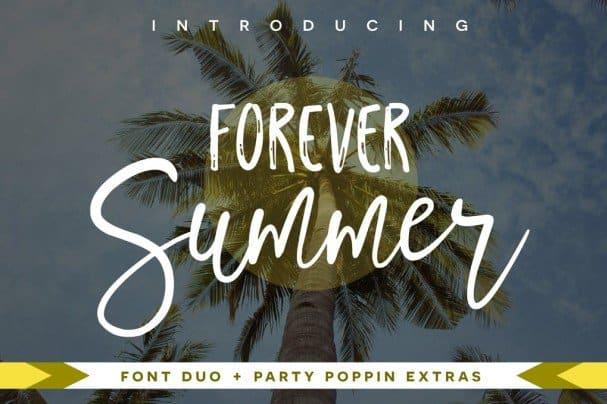 Forever Summer   Duo шрифт скачать бесплатно