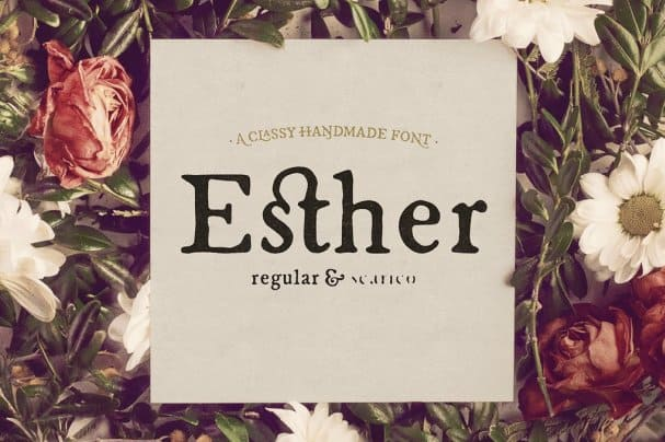 Esther Handmade шрифт скачать бесплатно