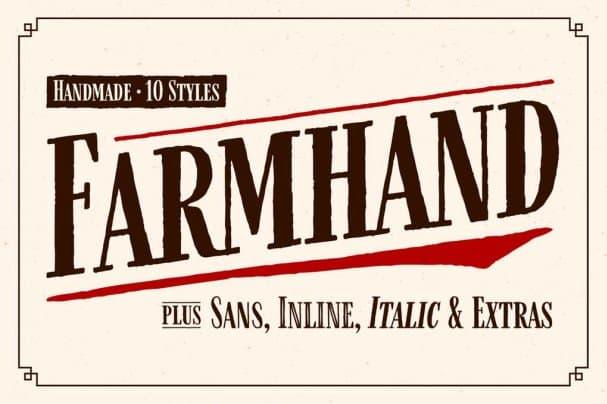Farmhand   Family шрифт скачать бесплатно