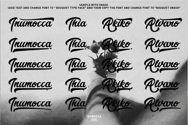 Bouquet Typeface шрифт скачать бесплатно