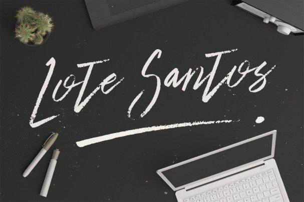 Lote Santos шрифт скачать бесплатно