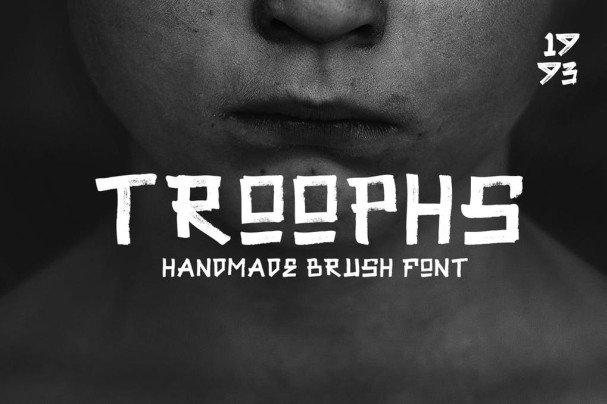 Troophs - Brush s шрифт скачать бесплатно
