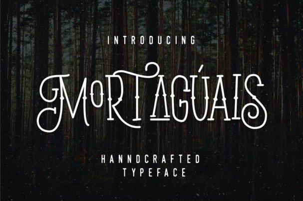 Mortaguais шрифт скачать бесплатно