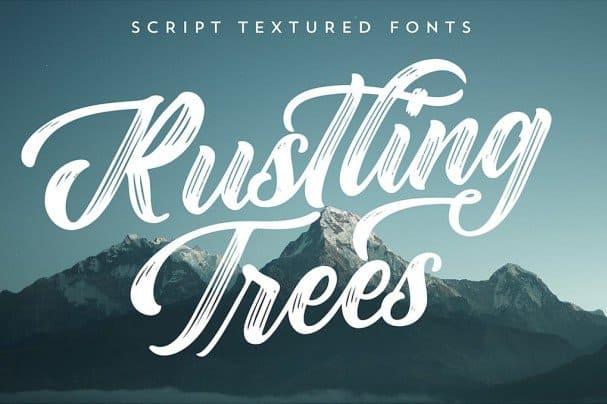 Rustling Trees шрифт скачать бесплатно