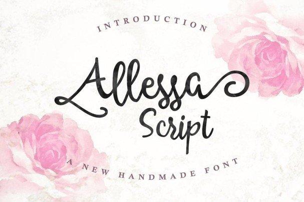 Allessa Script шрифт скачать бесплатно
