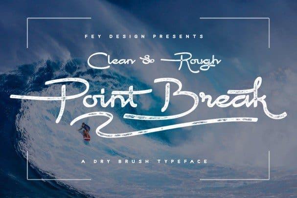 Point Break - Clean And Rough шрифт скачать бесплатно