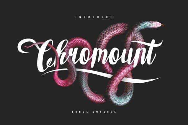 Chromount Typeface шрифт скачать бесплатно