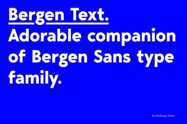Bergen Text шрифт скачать бесплатно