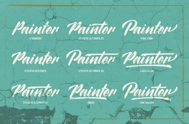 The Painter шрифт скачать бесплатно