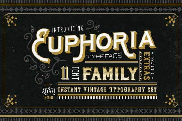 Euphoria   Family шрифт скачать бесплатно