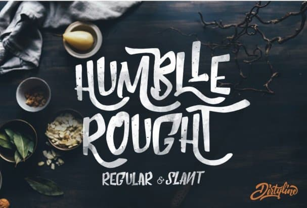 Humblle Rought -   Duo шрифт скачать бесплатно
