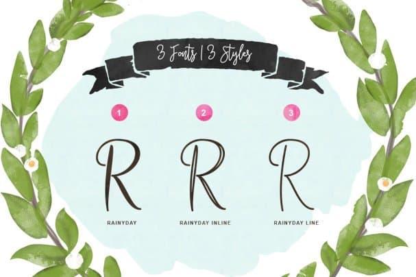 Rainy Day Typeface шрифт скачать бесплатно