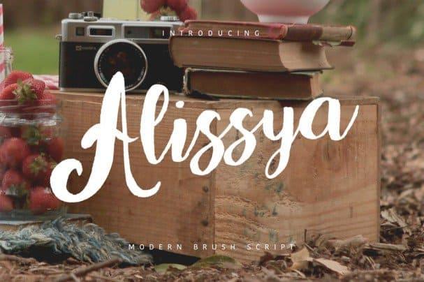 Alissya Typeface шрифт скачать бесплатно