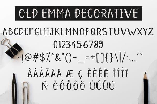 Old Emma шрифт скачать бесплатно