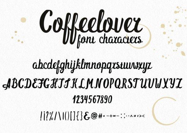 Coffeelover   шрифт скачать бесплатно