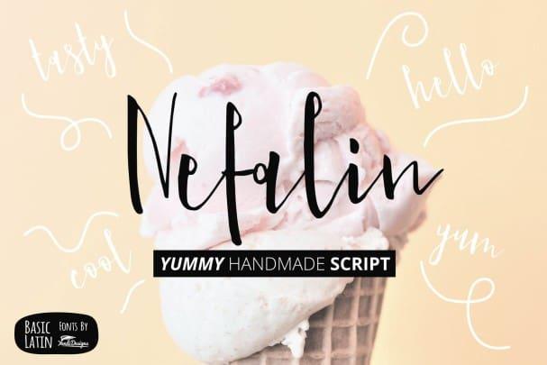Nefalin Yummy Font шрифт скачать бесплатно