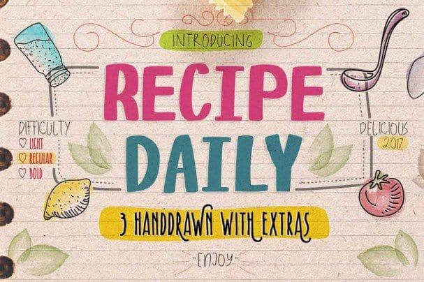 Recipe Daily Typeface шрифт скачать бесплатно