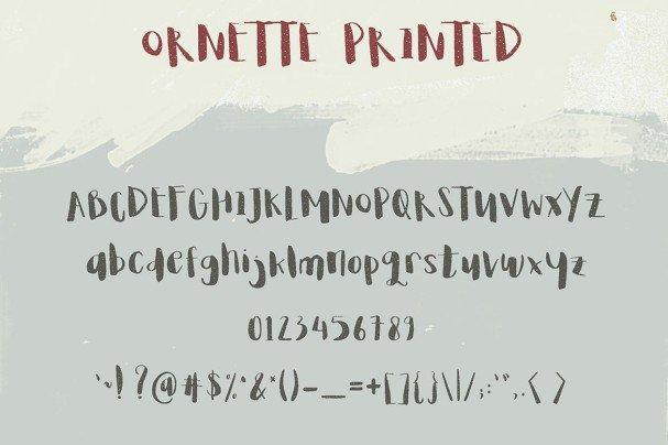 Ornette шрифт скачать бесплатно