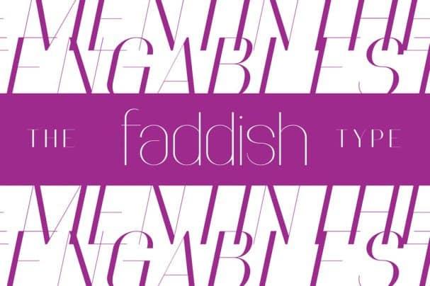 Faddish шрифт скачать бесплатно