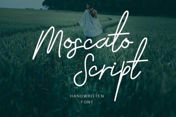 Moscato Script шрифт скачать бесплатно