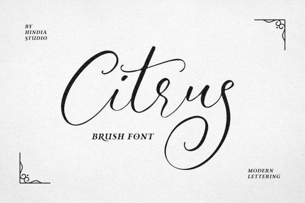 Citrus шрифт скачать бесплатно