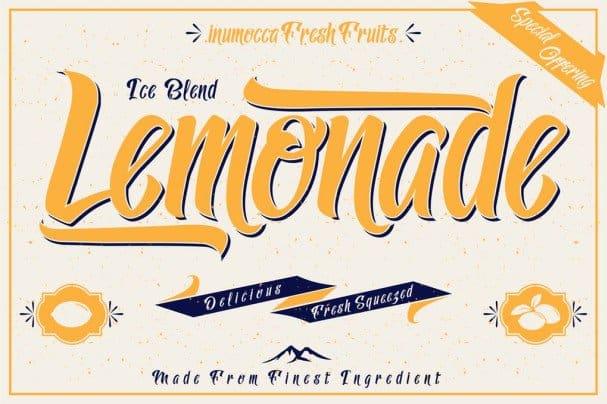 Lemonade шрифт скачать бесплатно