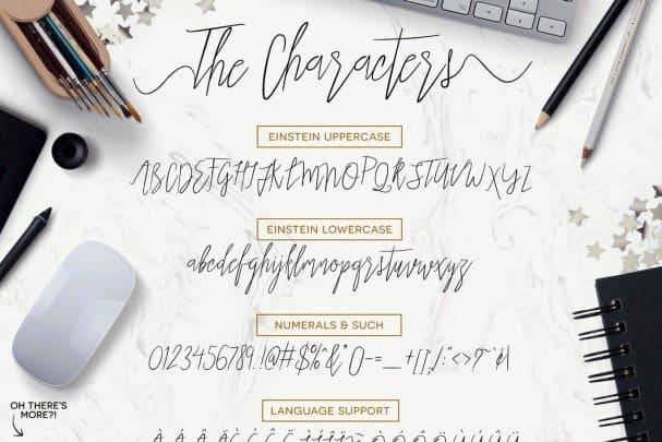 Einstein Font шрифт скачать бесплатно
