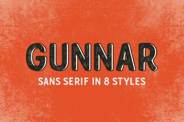 Gunnar шрифт скачать бесплатно