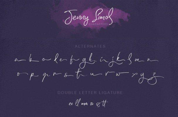 Jenny simol шрифт скачать бесплатно