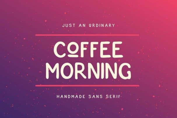 Coffee Morning Sans шрифт скачать бесплатно