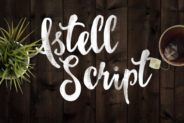 Astel Script Typeface шрифт скачать бесплатно